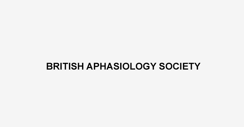 British Aphasiology Society Logo